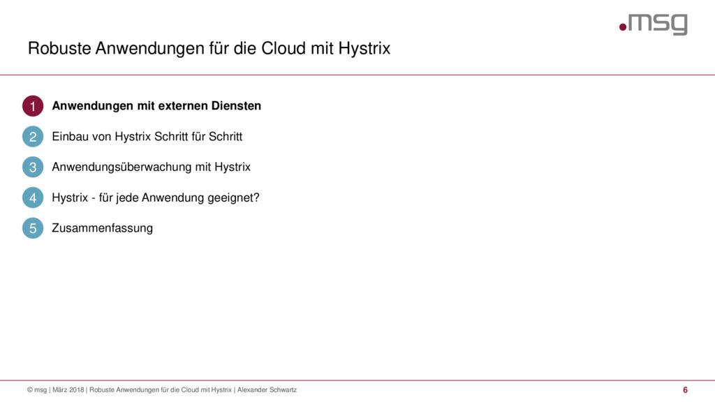 Robuste Anwendungen für die Cloud mit Hystrix 6...