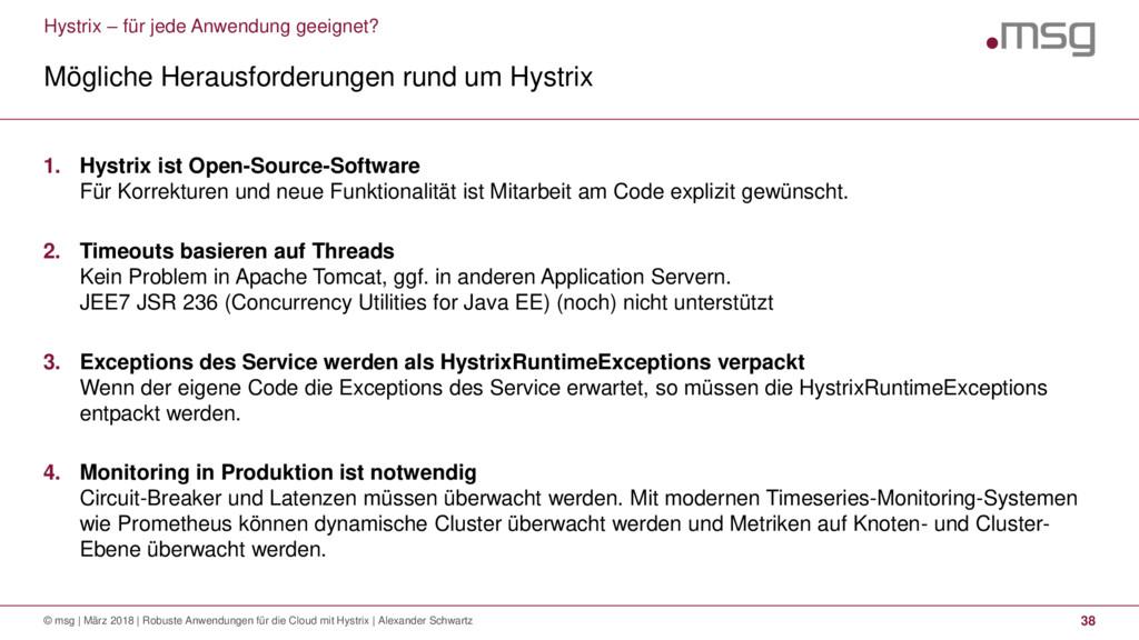 Hystrix – für jede Anwendung geeignet? Mögliche...