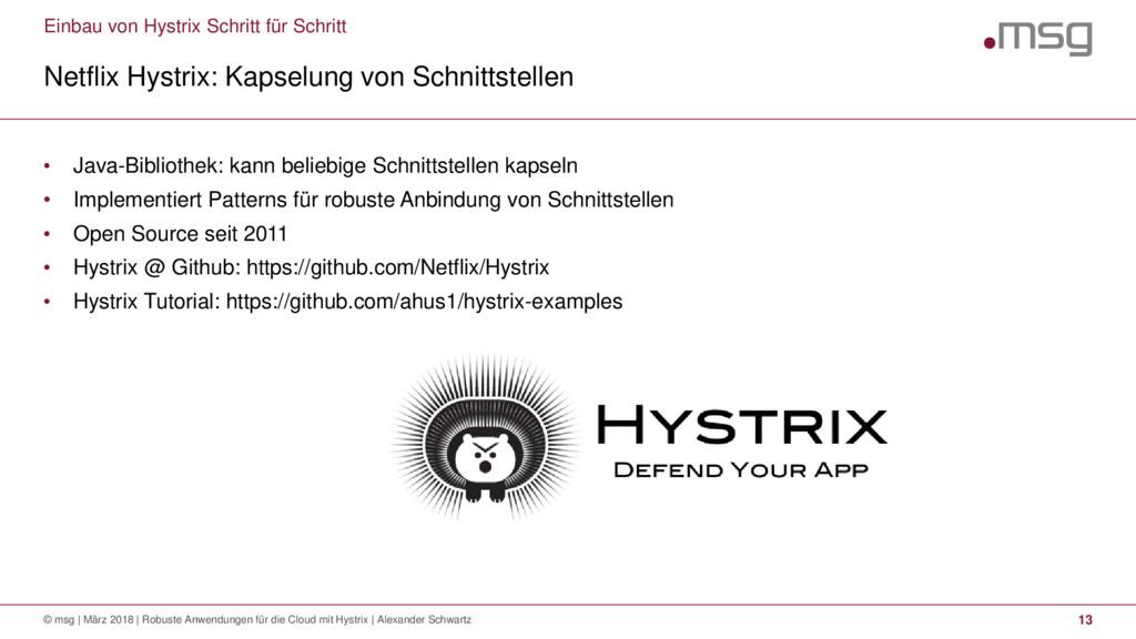 Einbau von Hystrix Schritt für Schritt Netflix ...