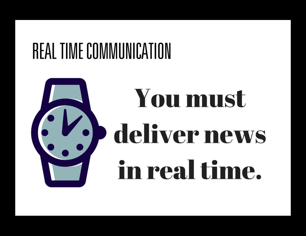 REAL TIME COMMUNICATION