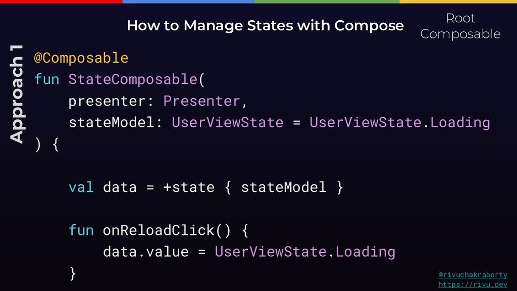 How to Manage States with Compose Approach 1 Ro...