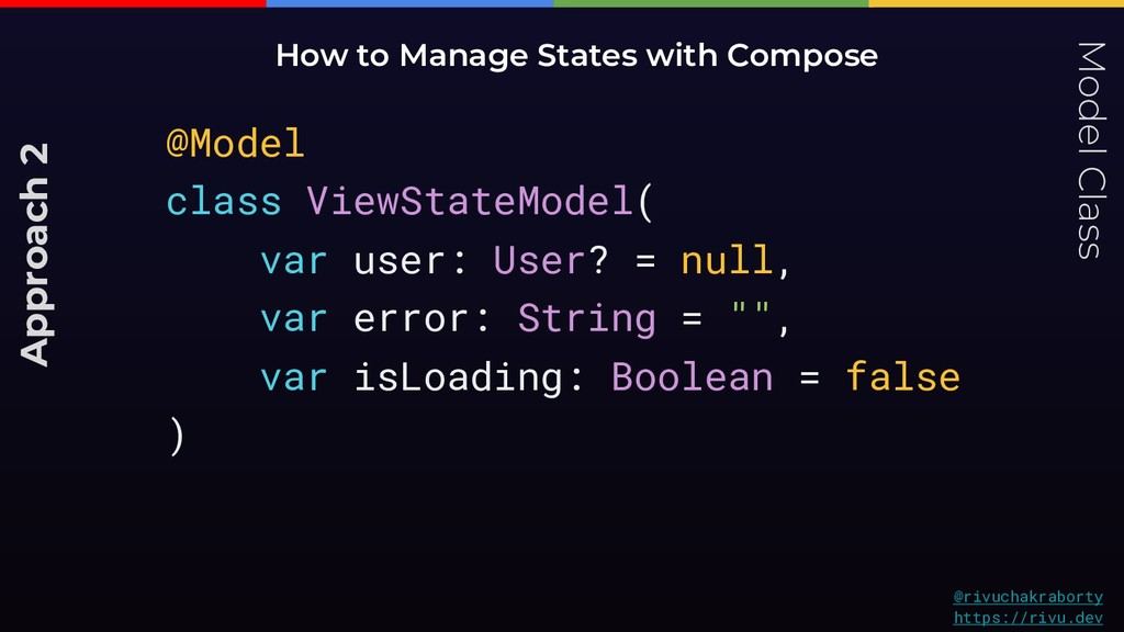 Model Class How to Manage States with Compose @...