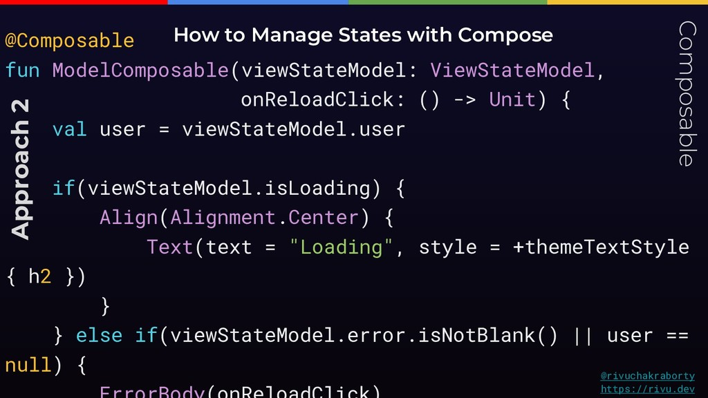 Composable How to Manage States with Compose @r...
