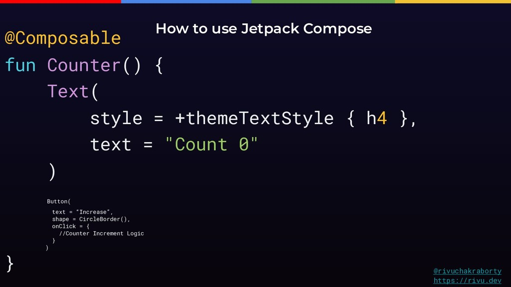 How to use Jetpack Compose @rivuchakraborty htt...