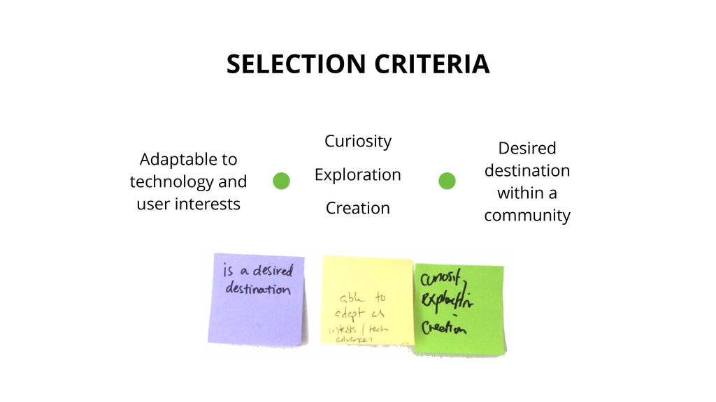 SELECTION CRITERIA Adaptable to technology and ...