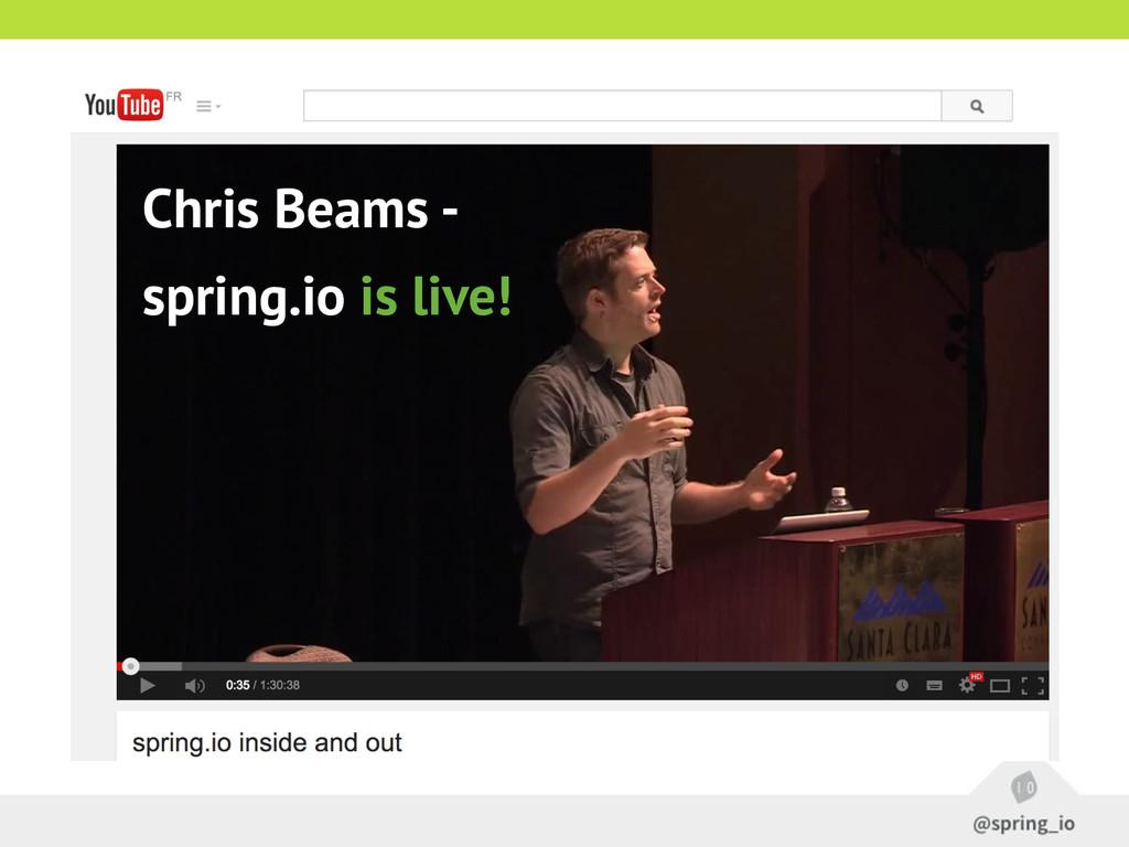 Chris Beams - spring.io is live!