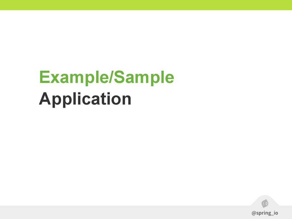 Example/Sample Application