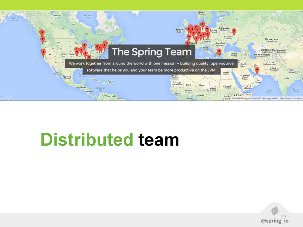 27 Distributed team