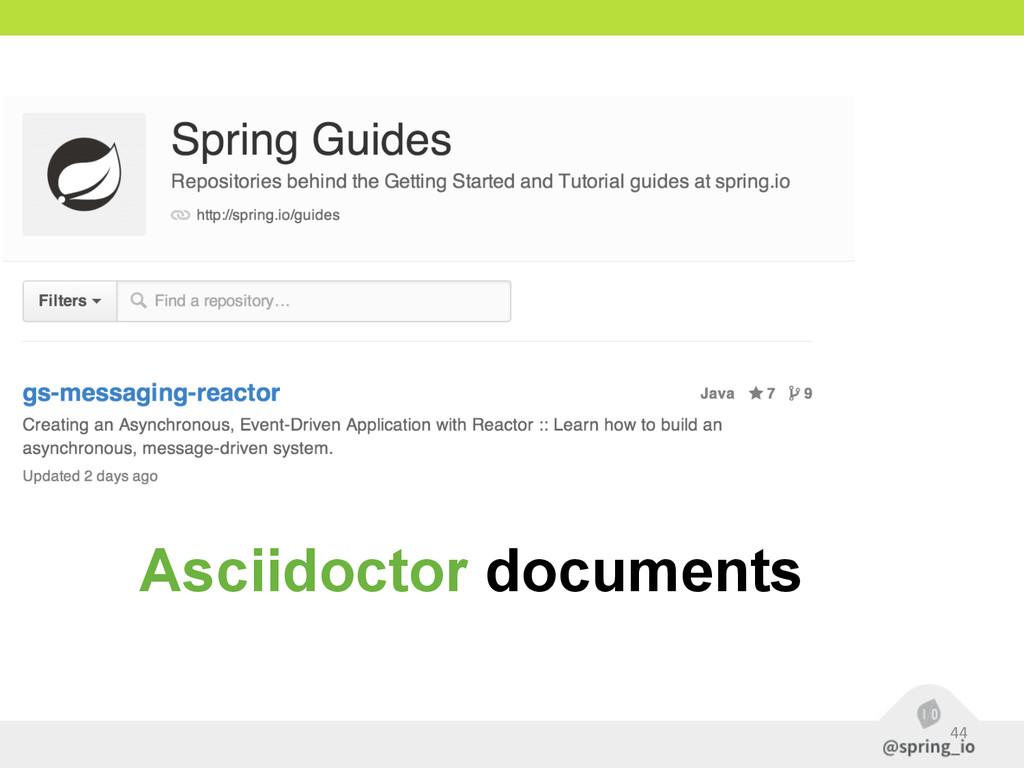 44 Asciidoctor documents