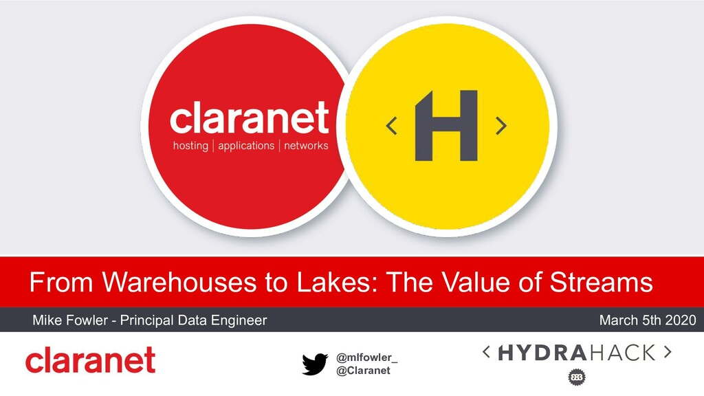 @mlfowler_ @Claranet From Warehouses to Lakes: ...