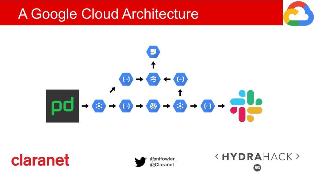 @mlfowler_ @Claranet A Google Cloud Architecture