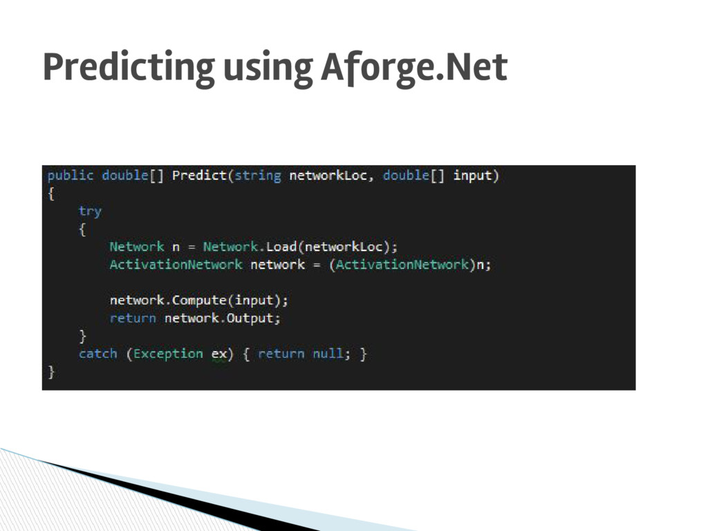 Predicting using Aforge.Net