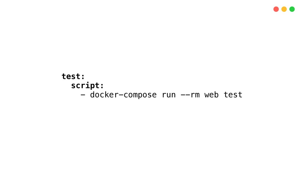 test: script: - docker-compose run --rm web test