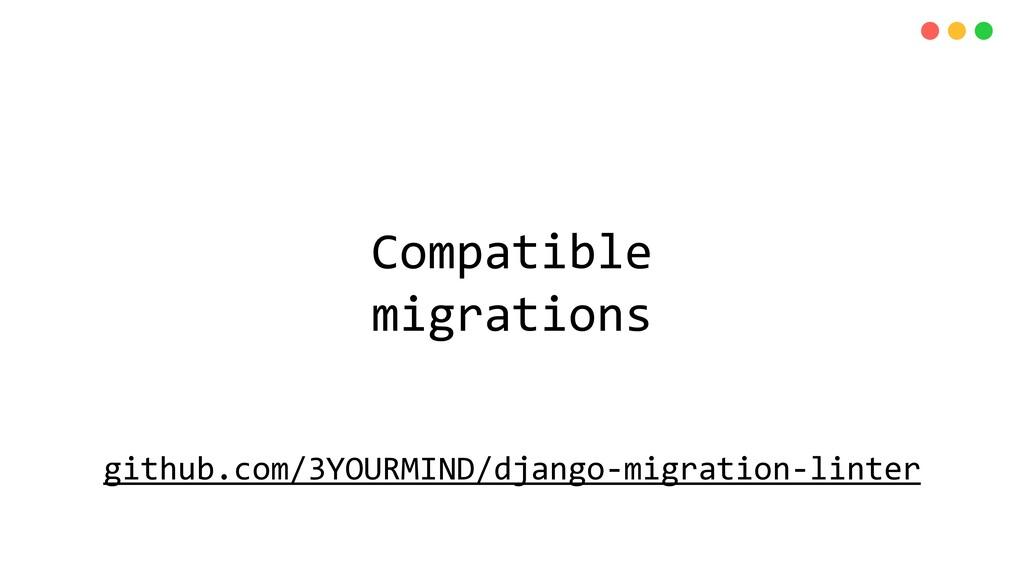 Compatible migrations github.com/3YOURMIND/djan...