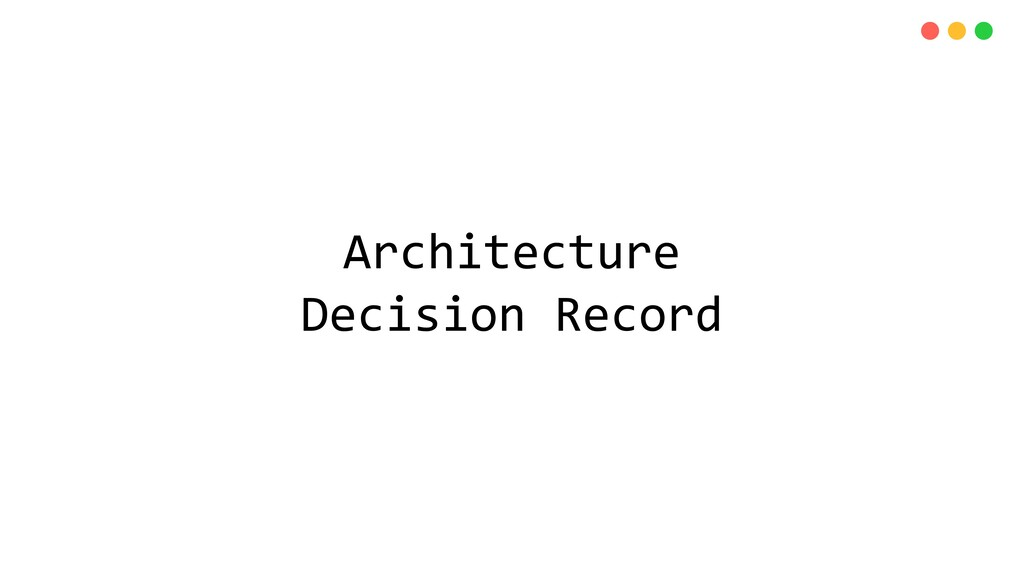 Architecture Decision Record