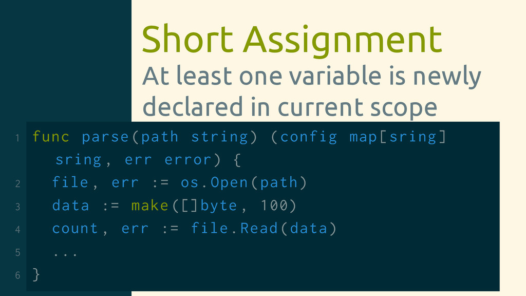Short Assignment At least one variable is newly...