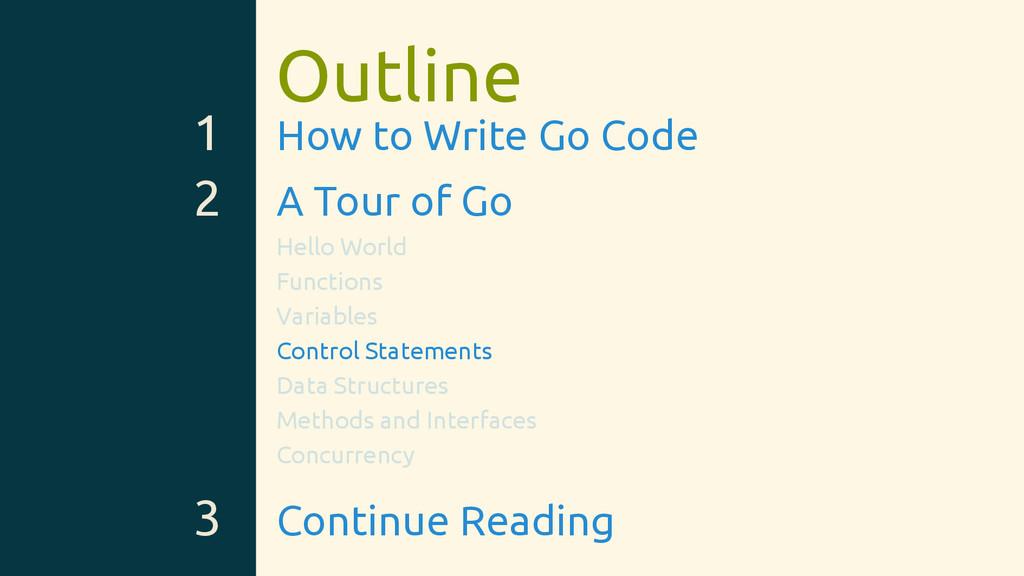 Outline 1 How to Write Go Code 2 A Tour of Go H...