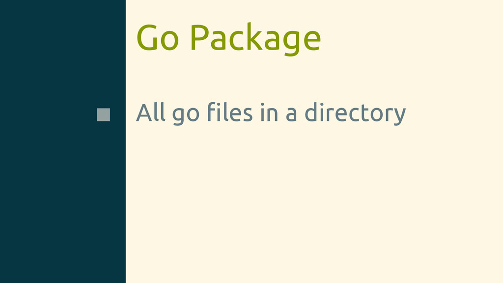 Go Package All go files in a directory