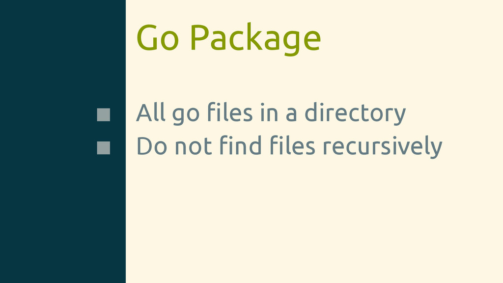 Go Package All go files in a directory Do not fin...
