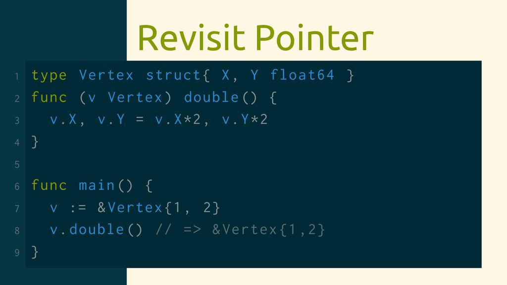 Revisit Pointer 1 type Vertex struct{ X, Y floa...