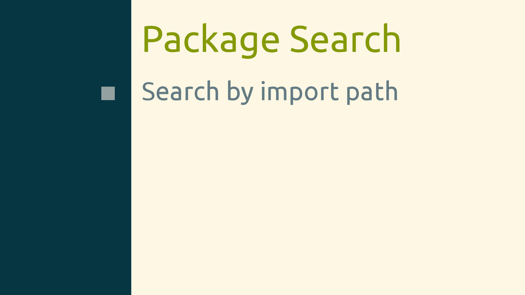 Package Search Search by import path