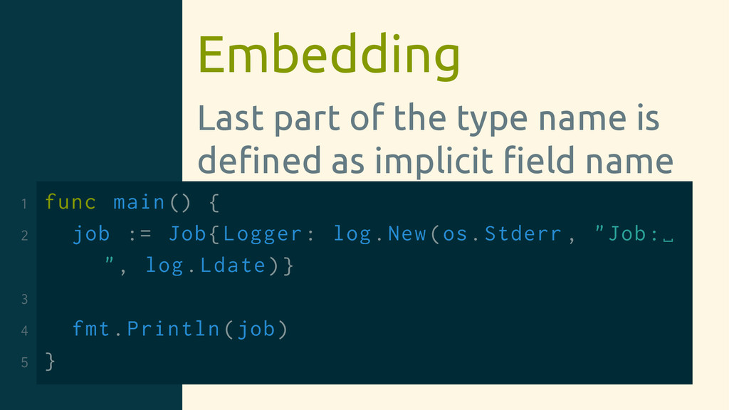 Embedding Last part of the type name is defined ...