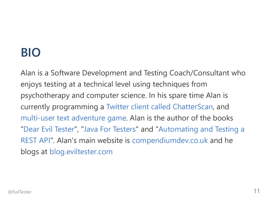 BIO Alan is a Software Development and Testing ...