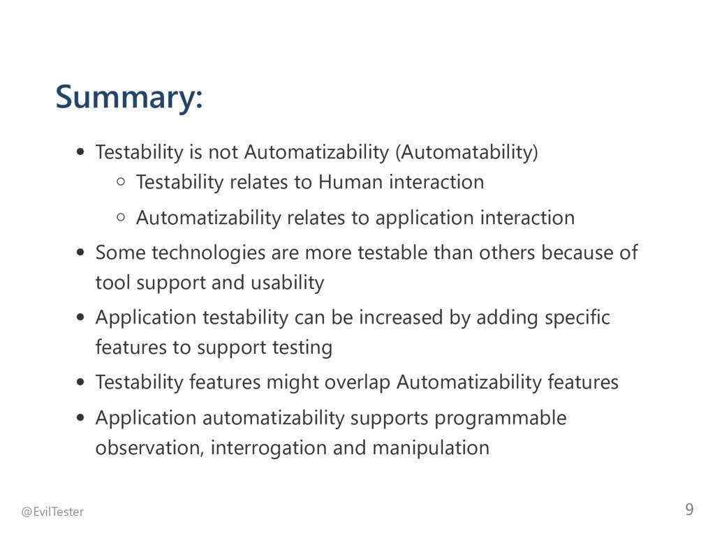 Summary: Testability is not Automatizability ﴾A...