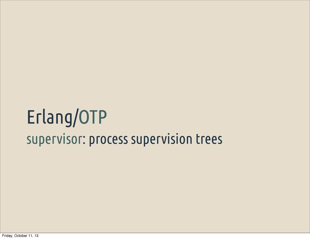 supervisor: process supervision trees Erlang/OT...