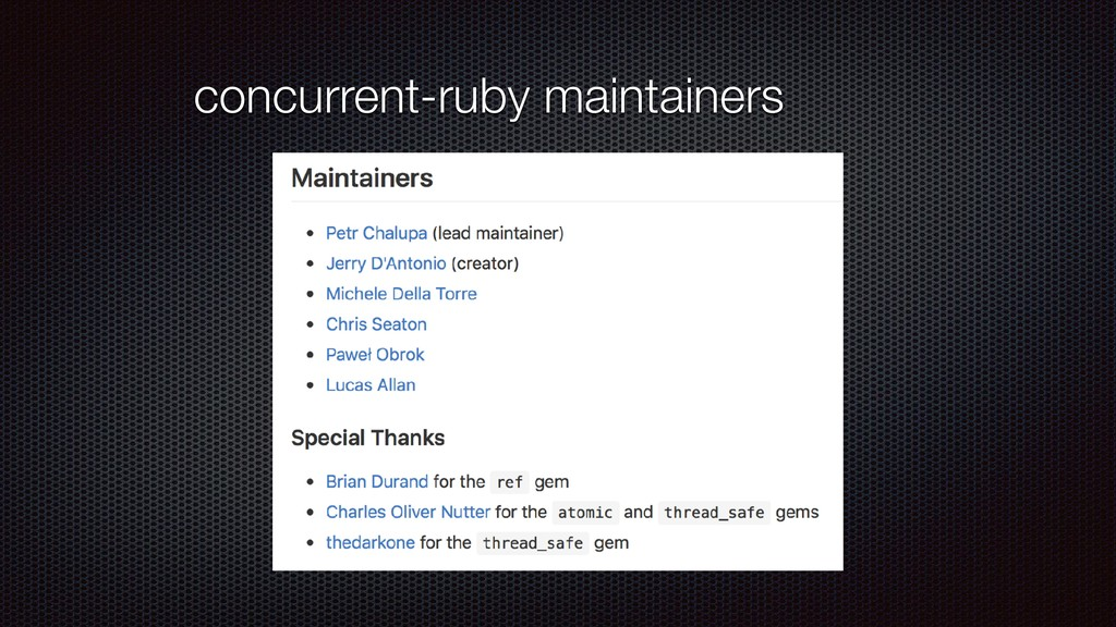 concurrent-ruby maintainers