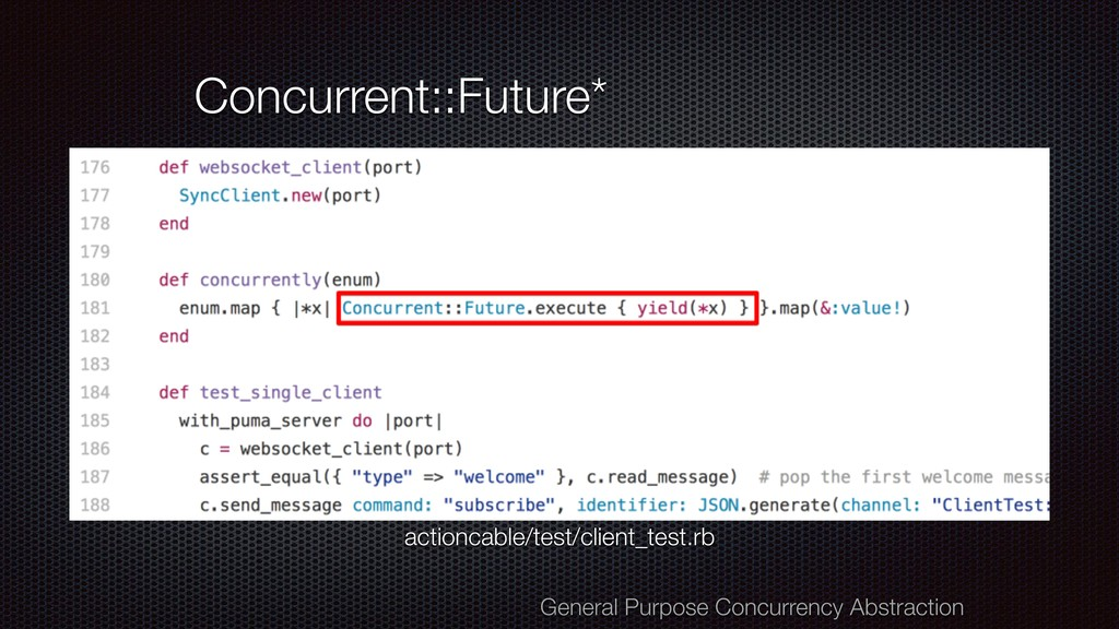 Concurrent::Future* General Purpose Concurrency...