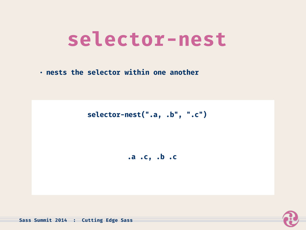 selector-nest • nests the selector within one a...