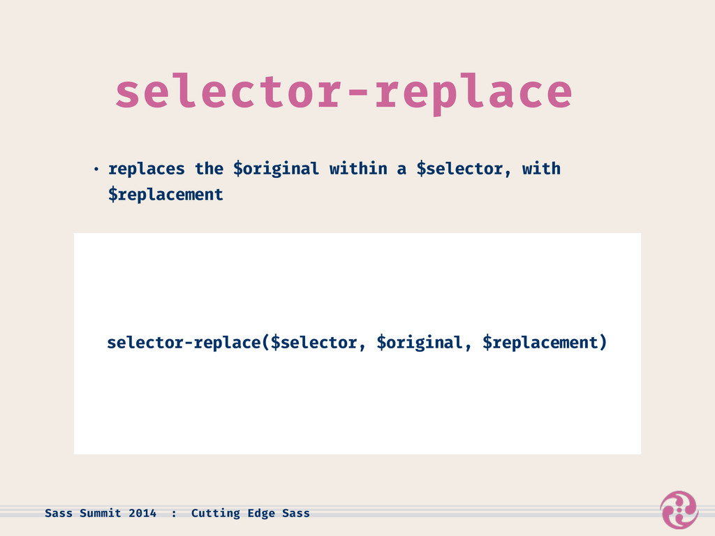 selector-replace • replaces the $original withi...