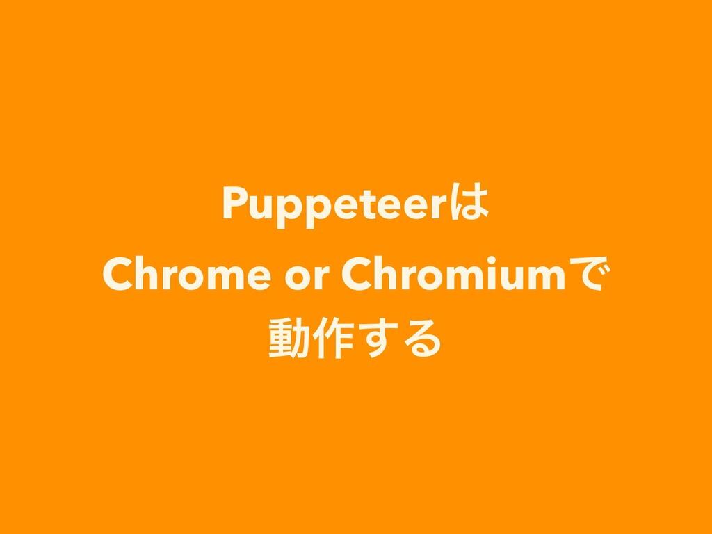 Puppeteer Chrome or ChromiumͰ ಈ࡞͢Δ