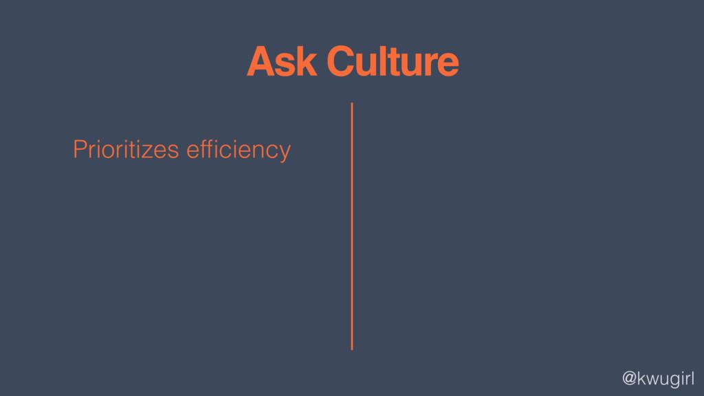 @kwugirl Ask Culture Prioritizes efficiency