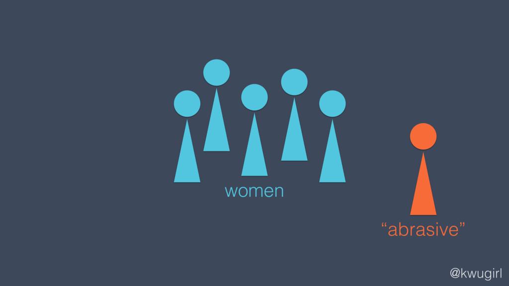 """@kwugirl women """"abrasive"""""""