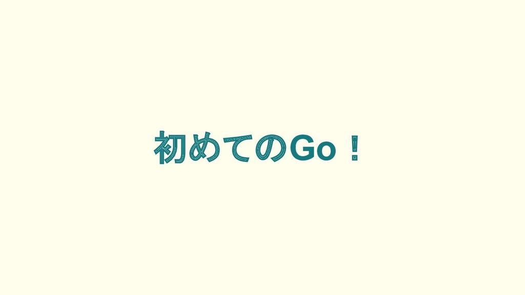 初めてのGo!