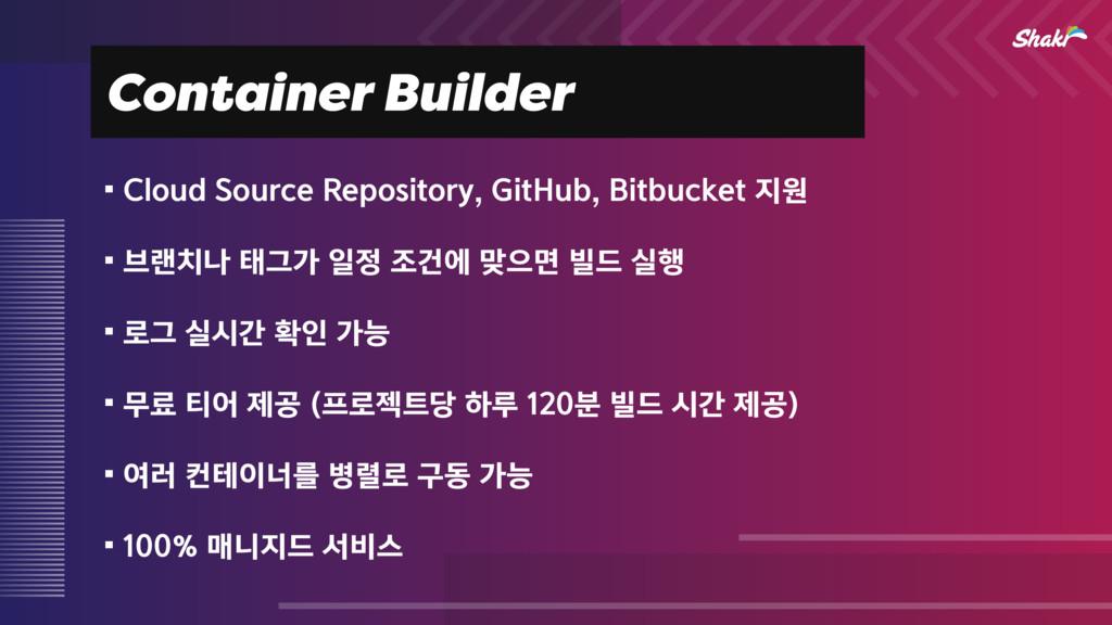 Container Builder ⿏$MPVE4PVSDF3FQPTJUPSZ(JU...