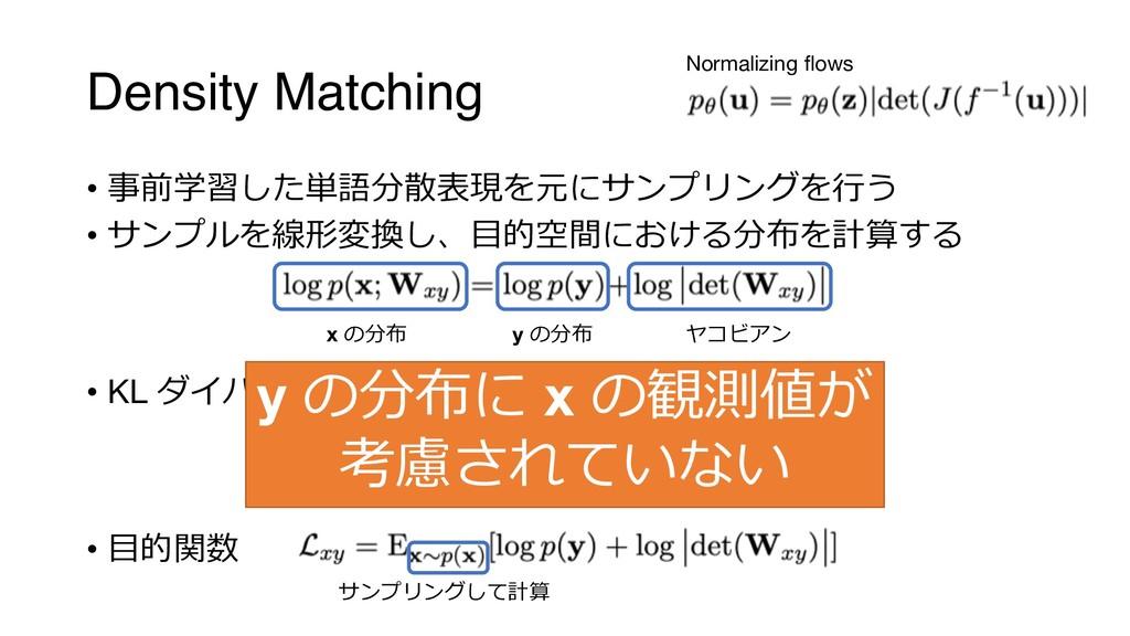 Density Matching • %'.A @;&D/15#!#$ • ...