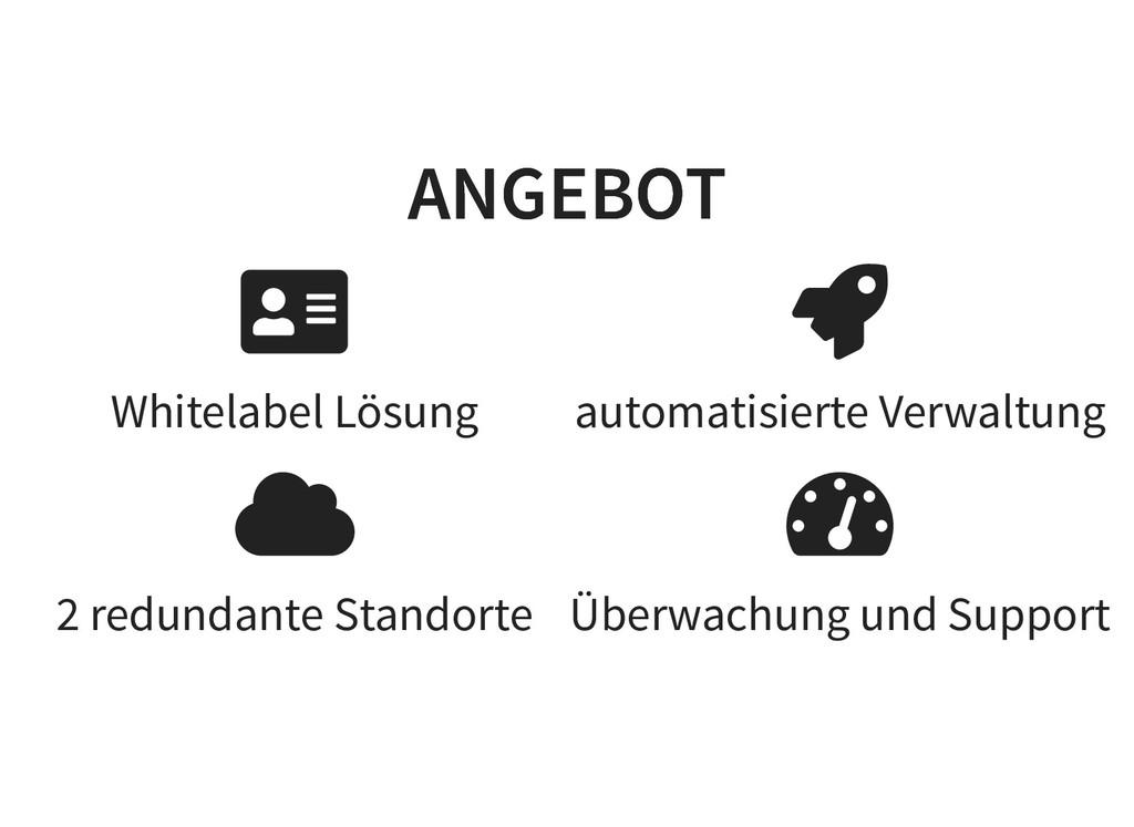 Whitelabel Lösung 2 redundante Standorte automa...