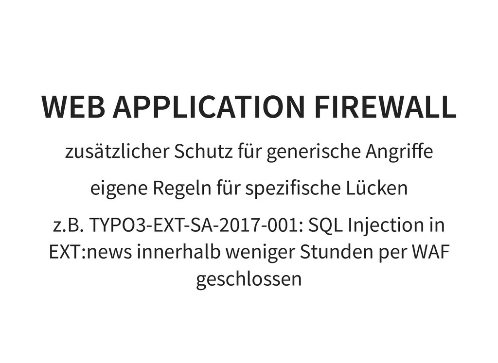 WEB APPLICATION FIREWALL WEB APPLICATION FIREWA...