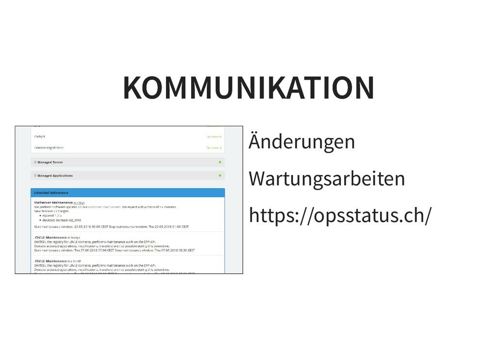 Änderungen Wartungsarbeiten https://opsstatus.c...