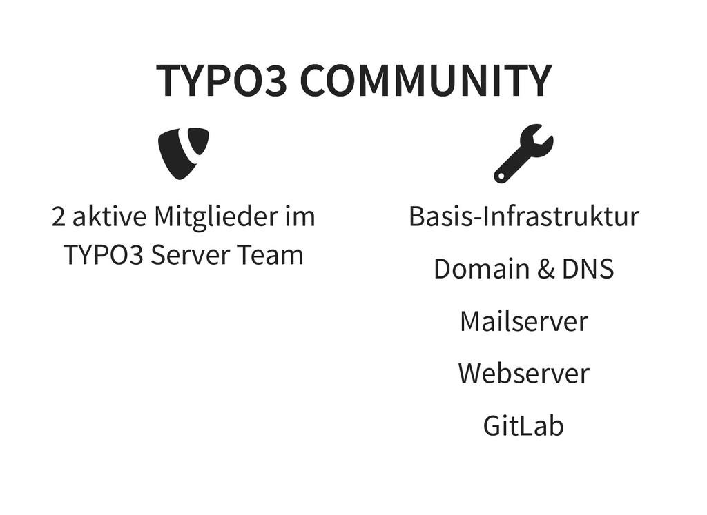 2 aktive Mitglieder im TYPO3 Server Team Basis-...