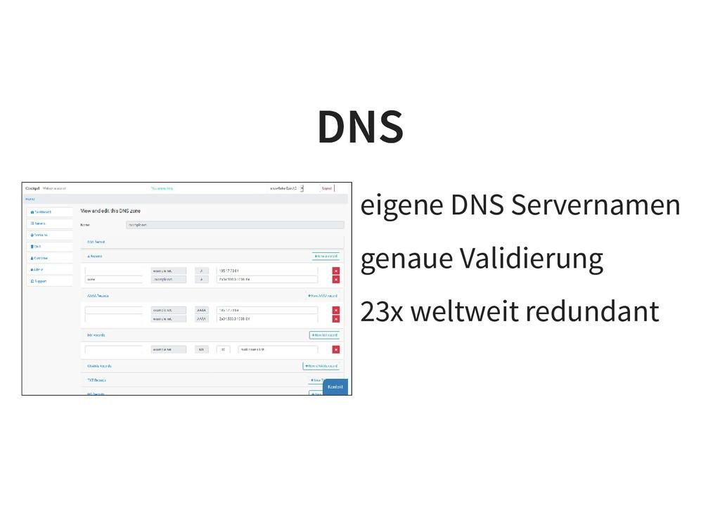 eigene DNS Servernamen genaue Validierung 23x w...