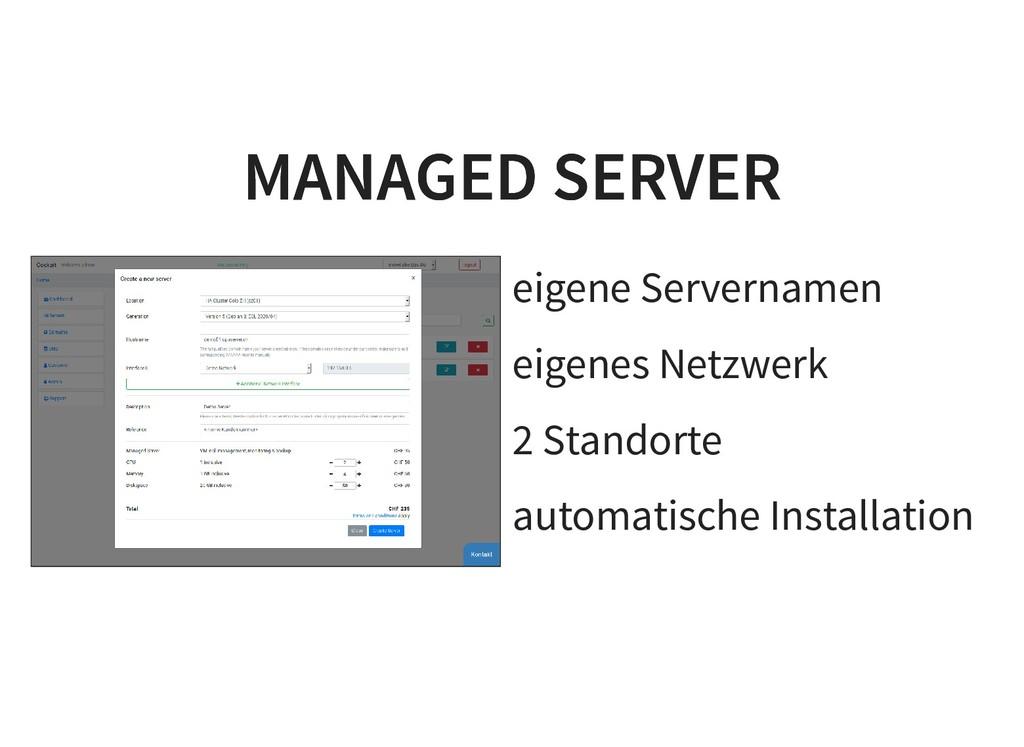 eigene Servernamen eigenes Netzwerk 2 Standorte...