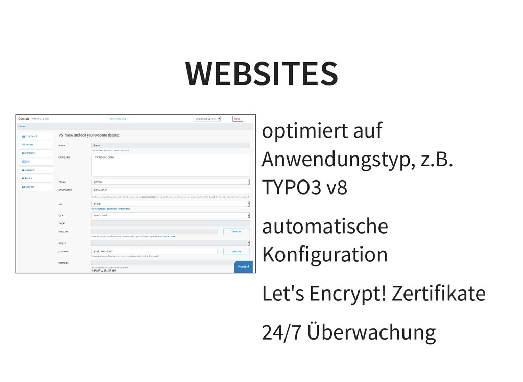 optimiert auf Anwendungstyp, z.B. TYPO3 v8 auto...