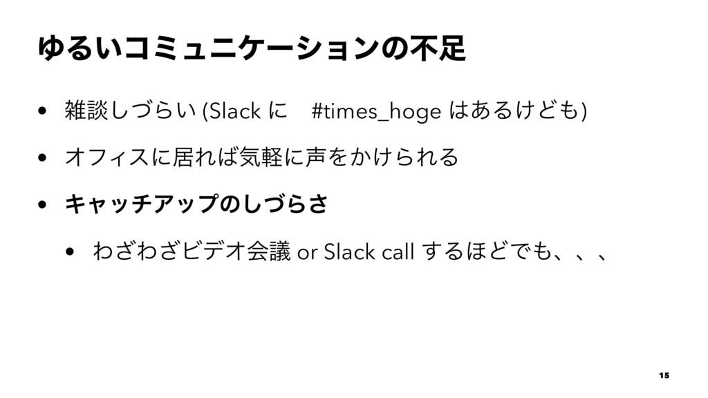 ΏΔ͍ίϛϡχέʔγϣϯͷෆ • ஊͮ͠Β͍ (Slack ʹɹ#times_hoge ...