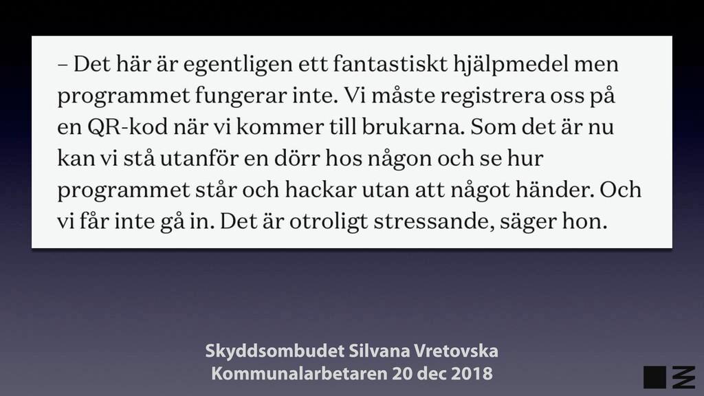Skyddsombudet Silvana Vretovska Kommunalarbetar...