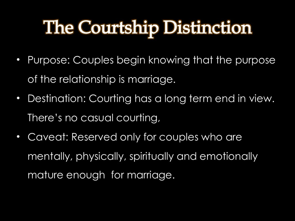 • Purpose: Couples begin knowing that the purpo...