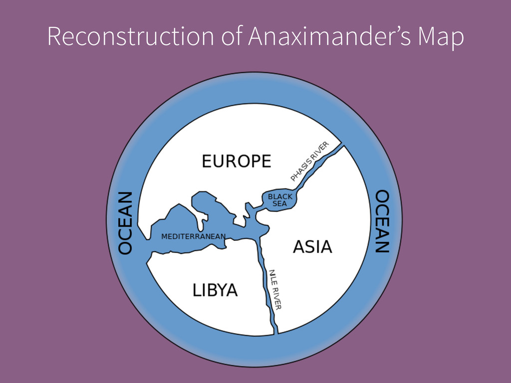 Reconstruction of Anaximander's Map
